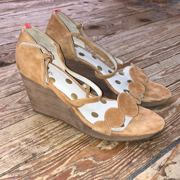 Boden Bethany Suede Wedge Sandals